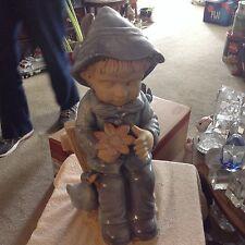 Blue boy ceramic statue