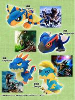 Monster Hunter World Plush Doll 20cm Nargacuga Lagiacrus Tigrex Soft Toys Gift