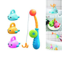 Colorful Floating Fishing Games with Fish Rod in Bathtub Pool Shower Bath Toy AU