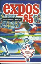MLB Baseball MONTREAL EXPOS Old Schedule Calendar Calendrier 1985 Sport O'Keefe