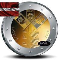 Pièce 2 euros commémorative LETTONIE 2018 - Indépendance des états Baltes - UNC