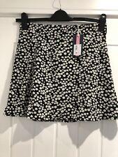 Jack Wills Skirt Size 10 Black White Floral New