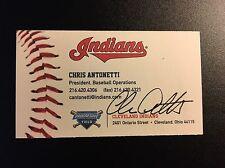 Cleveland business card ebay chris antonetti autographed business card autograph signed cleveland indians mlb colourmoves