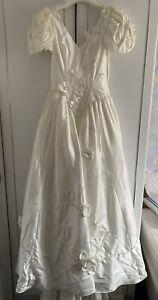 pronuptia wedding dress, Shantung Silk