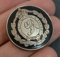 WW1 Solid Silver and Faux Tortoiseshell Royal Engineers Military Brooch