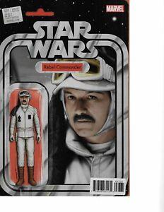 Star Wars #37 REBEL ACTION FIGURE VARIANT signed John Tyler Christopher NM COA