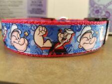 Popeye inspired dog collar