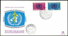 Suriname 1968 WHO, World Health Organization FDC First Day Cover #C35517