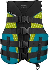 New listing O'Neill Women's SuperLite USCG Life Vest,Black/Turquoise/Lime/Turquoise,Large