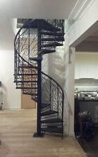Wrought iron ornate balustrade 1500 diameter spiral staircase