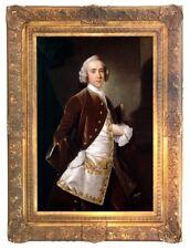 "'Portrait of a gentleman' 30""x 20""gilt framed giclée print -period country house"
