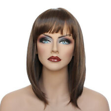 Classic Cap women Synthetic Straight Medium Brown full wig HengFeng ZP22