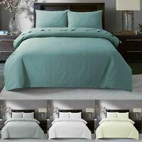 100% Egyptian Cotton Duvet Quilt Cover & Pillowcases Bedding Set All Sizes