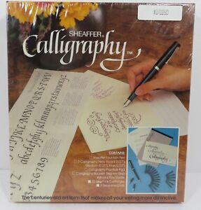Vintage Sheaffer Fountain Pen Refillable Calligraphy Set Kit 72260 New Sealed