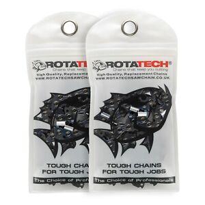 """2 16"""" Rotatech Chainsaw Saw Chains Fits TITAN TTL355CHN TTL759CHN"""