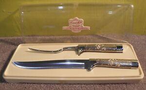 Vintage Carvel Hall Fine Cutlery by Briddell 2 Piece Carving Set Knife and Fork