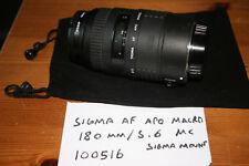 Sigma AF APO MACRO 180 mm f5.6 l'obiettivo, Sigma SA Mount-non testato