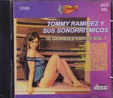 Tommy Ramirez y sus Sonorritmicos 16 Grandes Exitos Vol 1 CD New Nuevo Sealed