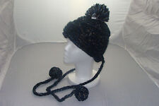 Urban Outfitters  Staring at Stars  Slouchy Crochet Knit Trapper Hat Teal  Black cf93692b039d