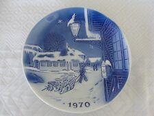 DESIREE OLD COPENHAGEN BLUE PLATE- 1970 HAN CHRISTIAN ANDERSON- CHRISTMAS PLATE