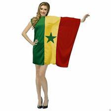 Ladies Senegal Country Flag Dress Football Fancy Dress Costume