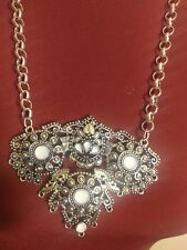Fashion jewellery oxidized silver metal locket and chain hand made