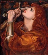 Joan of Arc 1882 Dante Gabriel Rossetti 9x8 Inch Print