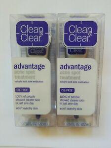 (2 Pack) Clean & Clear Advantage Acne Spot Treatment Acne Medication 0.75 Oz