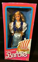 Vtg ICELANDIC Barbie Doll 1986 Mattel 3189 Dolls Of The World Collection w/ Box