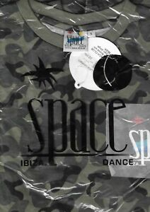 BNWT OFFICIAL Space Ibiza T-Shirt Army Camo Small RARE STOCK FIND VINTAGE