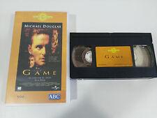 THE GAME VHS TAPE COLECCIONISTA EDICION ESPAÑOLA MICHAEL DOUGLAS SEAN PENN