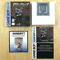 RATS! Nintendo Gameboy Color Complete CIB W/ Box Manual Inserts Excellent Tested