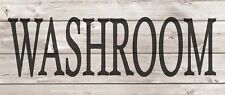 WASHROOM Metal Sign Wood Look Rustic Wall Decor Retro Man cave 5x12 SS48