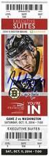 Patrice Bergeron Boston Bruins Signed Autographed 2014 Capital Suite Ticket - S2