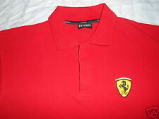 FERRARI SCUDERIA EMBROIDERED RED POLO SHIRT SIZE MEDIUM FROM ITALY.!