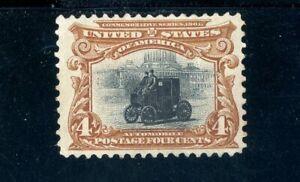 USAstamps Unused FVF US 1901 Pan-American Automobile Scott 296 OG MNH