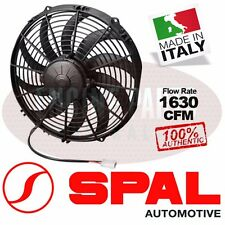 "100% Authentic SPAL 30102029 1630 CFM 12"" Curved Blade Cooling Puller Fan 12V"