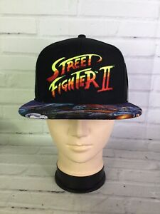 Street Fighter II 2 Blanka Chun-Li Brim Art Logo Snapback Cap Hat Adjustable NEW