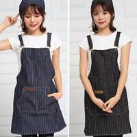 Unisex Home Kitchen Cooking Restaurant Chef Adjustable Bib Apron Dress w/ Pocket