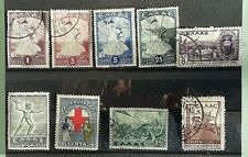 Greece Stamps-9-Misc Selection 6 Used/3Mint All Hinged- Collection Break-Up.