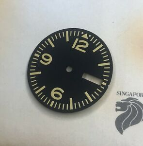 Yellow Aviation Aviator Dial Seiko 7S26 NH35 movement w/ Day Date 28.5mm