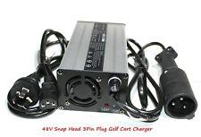 AU 48V/6A EZGO Snap Head 3Pin Plug Golf Cart Battery Charger EZ-GO TXT Club DS