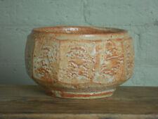 "Warren MacKenzie pottery serving bowl, shino glaze, ""double faceted""."