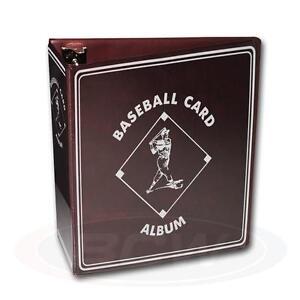 "1 BCW 3"" Burgundy Baseball Card Storage D-Ring Album Binder Book Display Protect"