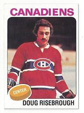 1975-76 Topps Hockey #107 Doug Risebrough **MINT** sharp FREE SHIPPING