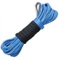 """50' X 1/4"""" 5250 lb Synthetic Winch Rope for Recovery Winch Replacement ATV SUV"""