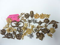 Victorian style brass stampings  from the early 90s cherubs angels 1/4LB. lot