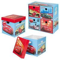 Disney Cars Cardboard Storage Boxes Toys Arts Playroom Box Chest Organiser NEW