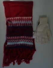 Tie rack cashmere 1 size cream gloves + Top shop multicolored long scarf