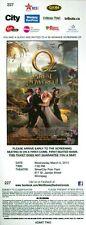 James Franco OZ GREAT AND POWERFUL Mila Kunis Rachel Weisz premiere ticket